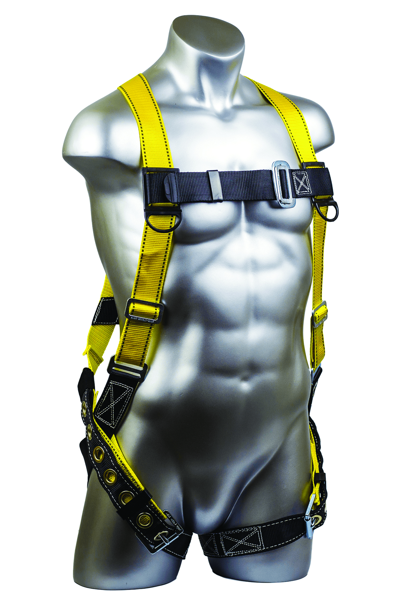 01704 - Velocity Full-Body Harnesses-Velocity Full-Body Harnesses-Size: XL-2XL,Pass-Through Chest Buckles, Leg Tongue Buckles, Dorsal D-ring----UOM: 1/EA