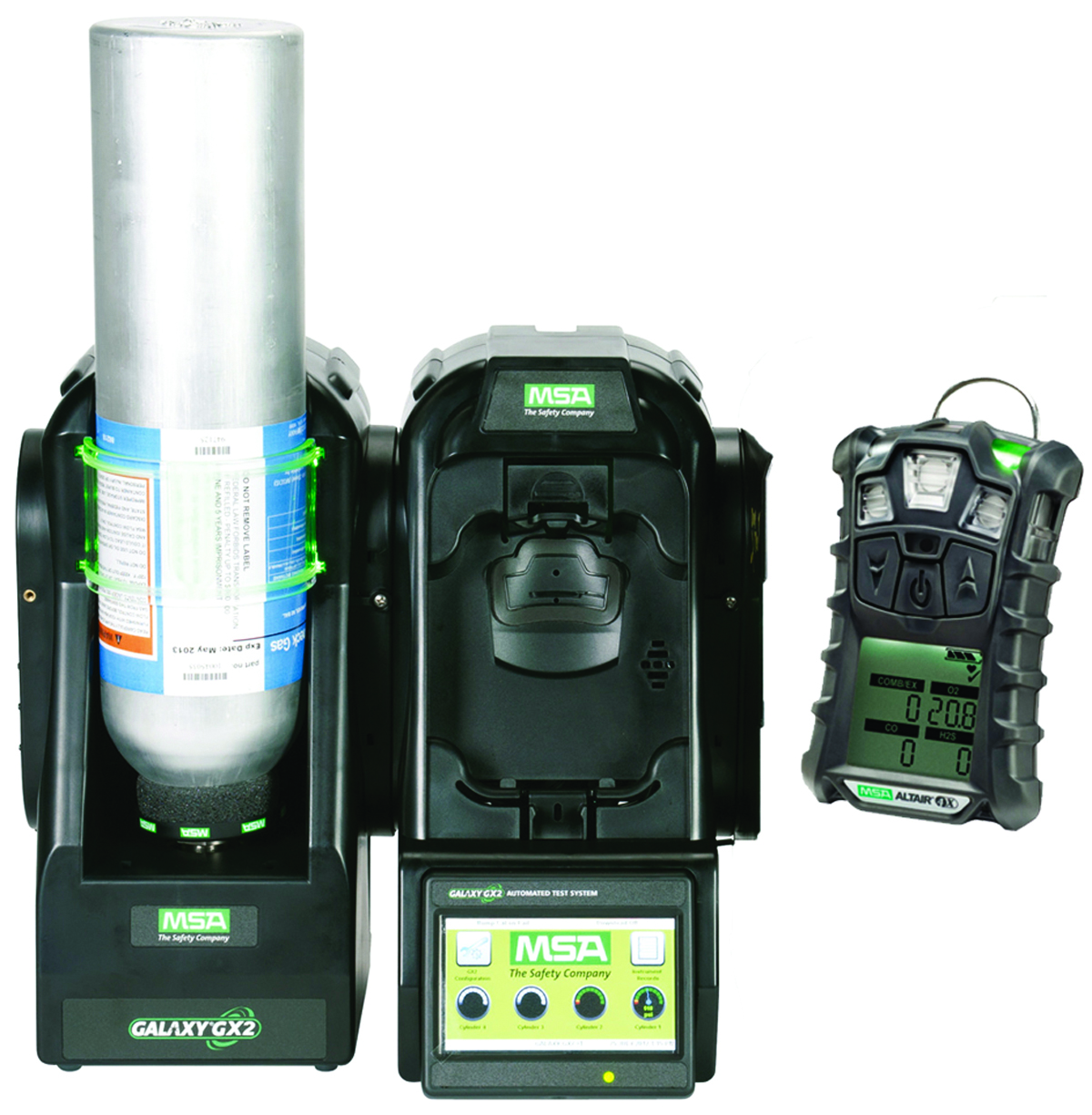 10128642 - GALAXY GX2 Automated Test System-4/4X Multigas Detector: 1 Valve (for Use with 1 Calibration Gas Cylinder)-----UOM: 1/EA