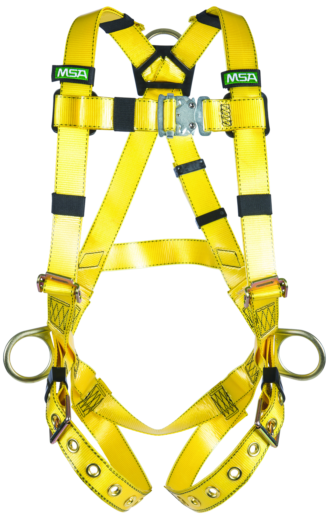 10155875 - Gravity® Harnesses-Gravity® Harness-Standard Size, Yellow Vest-Type, with BACK & HIP D-Rings and Tongue Buckle Leg Straps----UOM: 1/EA
