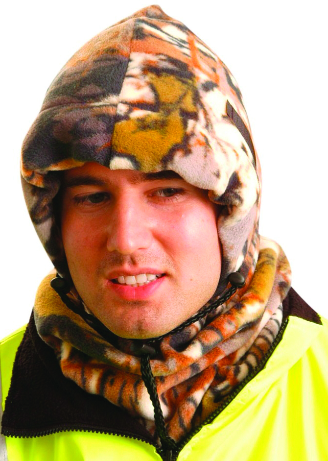 1070-CAMO - Hot Rods 3-in-1 Fleece Balaclava-Hot Rods 3-in-1 Fleece Balaclava-Camouflage----UOM: 1/EA