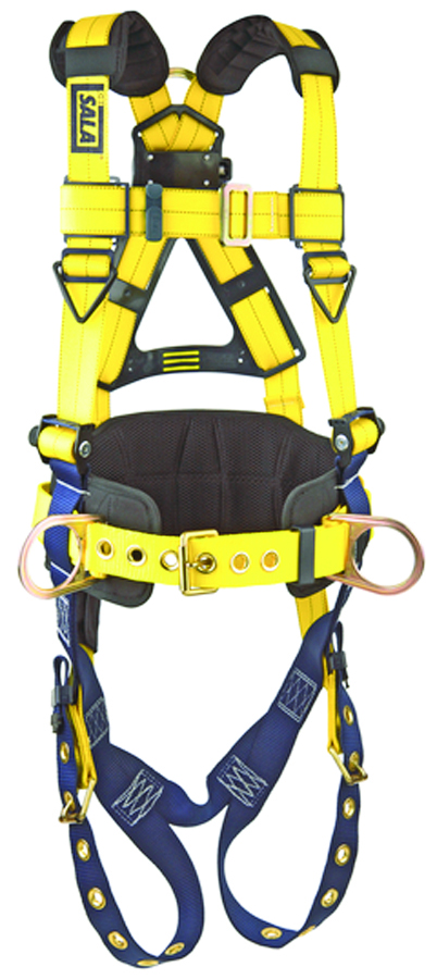 1101655 - Delta™ Construction Harnesses with Hip Pads-Construction Style Positioning Harness-Yellow, Size Large----UOM: 1/EA