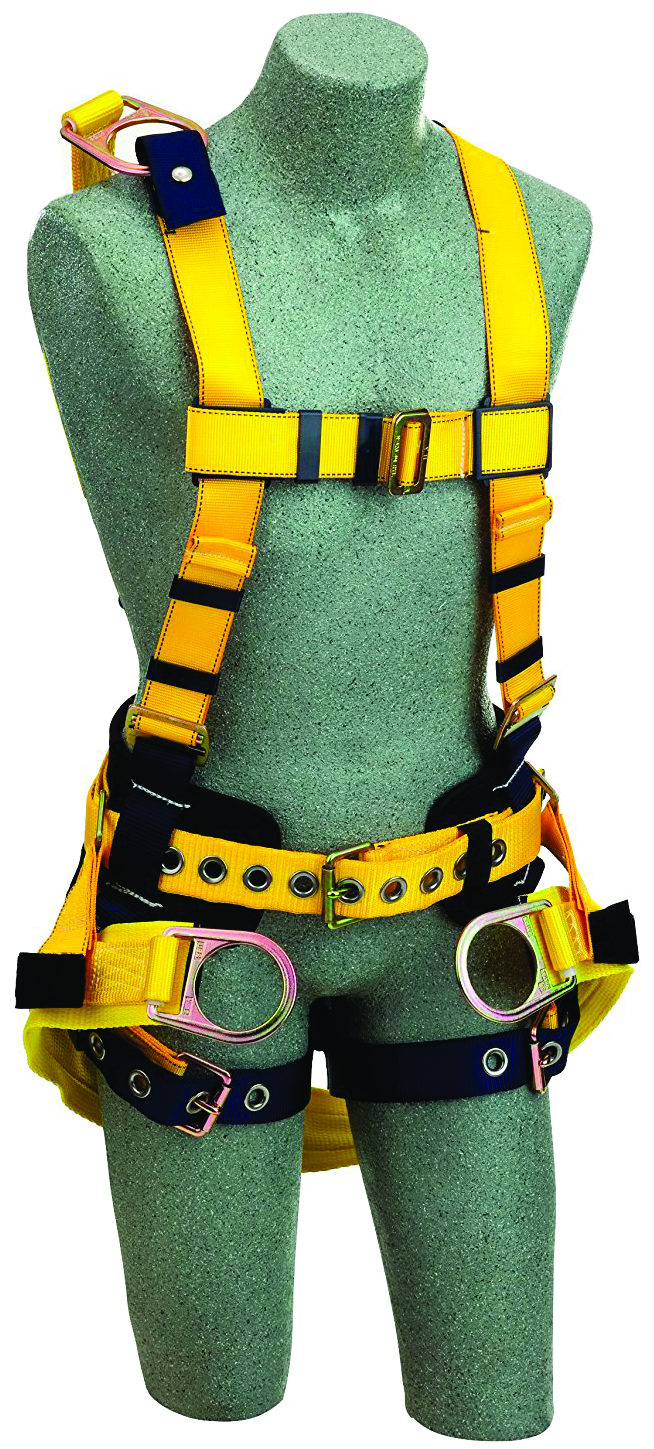 1106102 - Delta™ II Derrick Harnesses-Seat sling with positioning D-ring-Yellow, Size Large----UOM: 1/EA