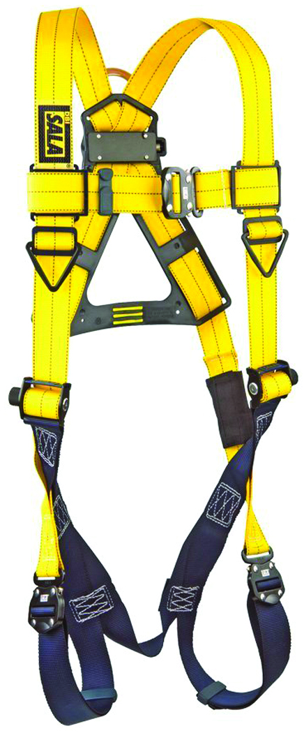 1102008 - Delta™ Vest Style Harnesses-Tongue Buckle Leg Straps, Side D-Rings-Yellow, Size Universal----UOM: 1/EA