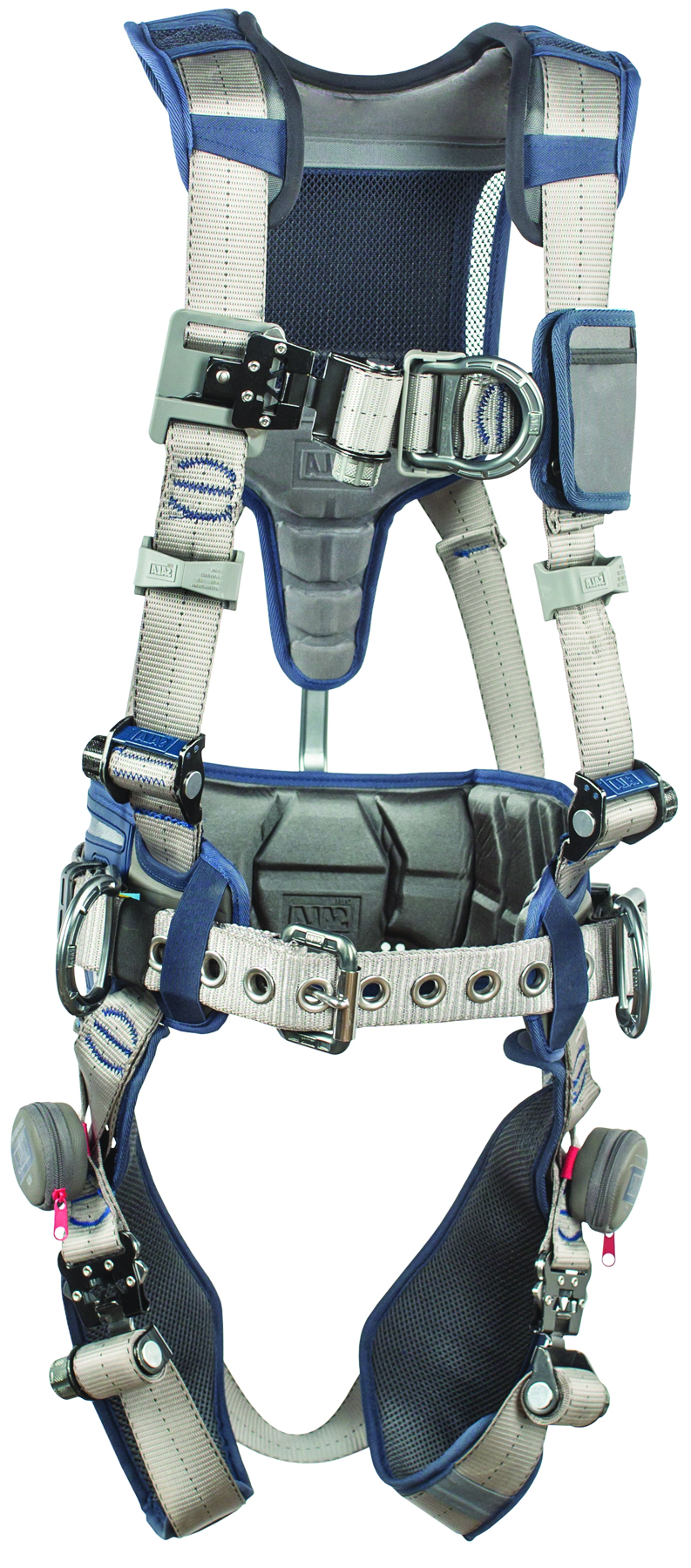 1112542 - ExoFit STRATA™ Construction Style Positioning/Climbing Harnesses-Construction Style Positioning/Climbing Harnesses-Blue and Gray, Size Large----UOM: 1/EA