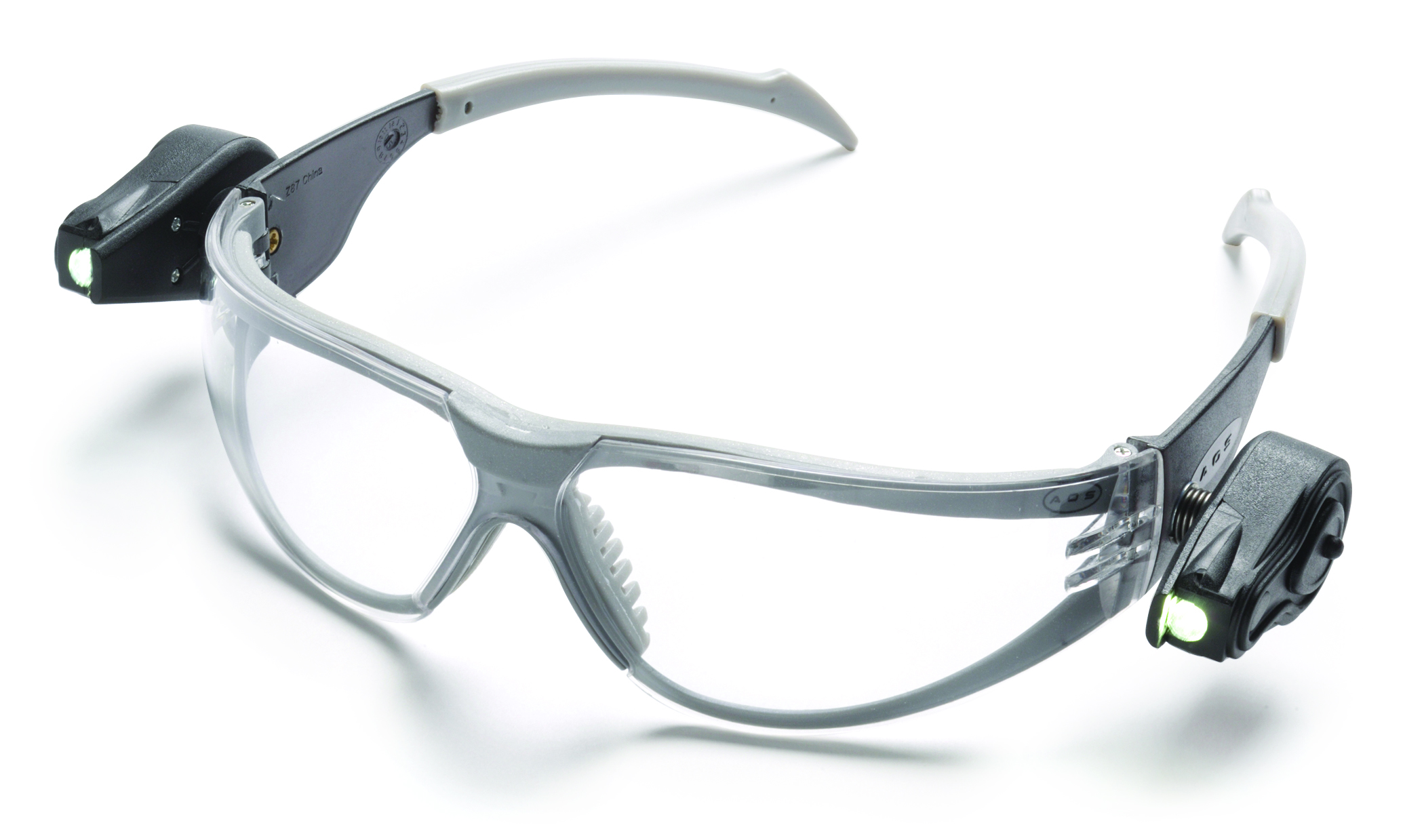 11356-00000-10 - 3M™ Light Vision™ and Light Vision2™ Safety Eyewear with LED Lights-Light Vision™, Gray Temple, Clear Lens-----UOM: 1/EA