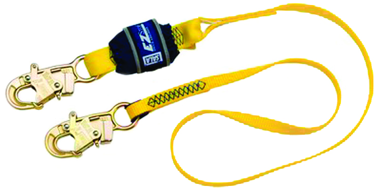 1246022 - EZ-STOP™ II Shock-Absorbing Lanyards-Shock-Absorbing Lanyards-Double-Leg 100% Tie-Off with Snap Hooks at Each End----UOM: 1/EA