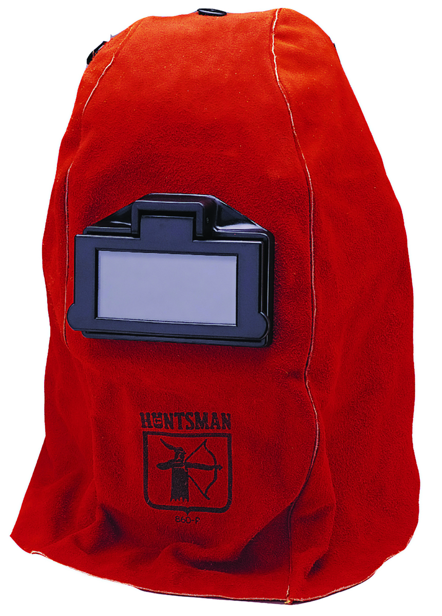 14531 - Jackson Safety®*  W20 860 Lift Front  Leather Welding Helmet-Red Leather-----UOM: 1/EA