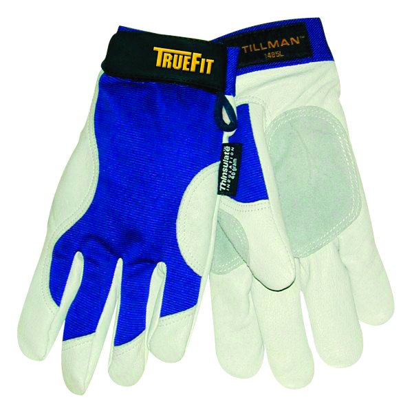 1485M - 1485 TrueFit™ Pigskin Gloves-Trade and Utility Gloves-TrueFit, top grain Pigskin with Thinsulate™ lining, Spandex back-Medium---UOM: 1/PR