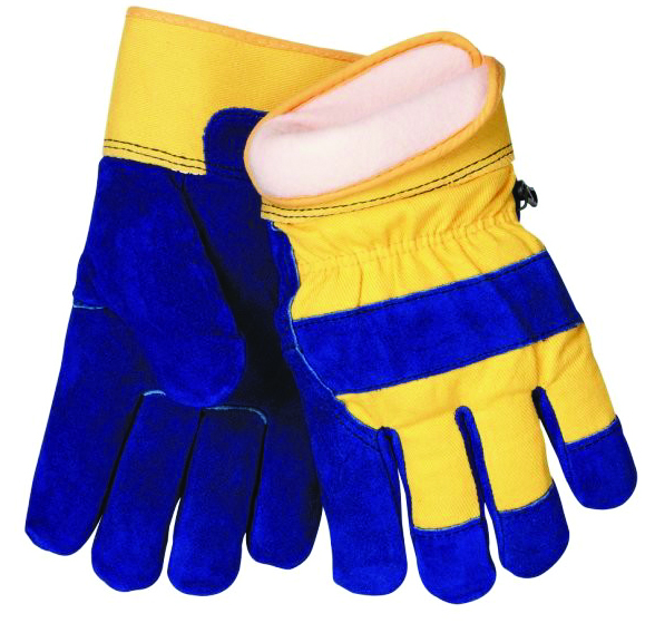 1568L - 1568 Split Leather/Cotton Winter Gloves-1568 Split Leather/Cotton Winter Gloves-Size L----UOM: 12/PK