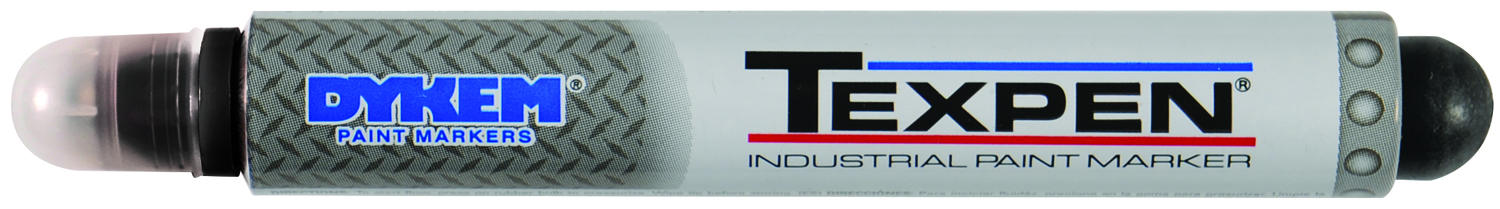 16033 - TEXPEN® Industrial Steel Tip Paint Marker-Black-Steel Medium Tip----UOM: 12/CS