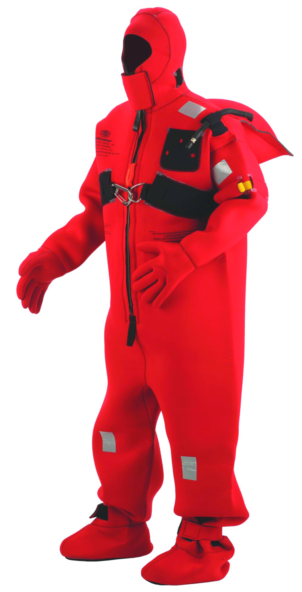 2000008113 - SOLAS Cold Water Immersion Suits-SOLAS Cold Water Immersion Suits-Red/Black, Size: Adult Universal----UOM: 1/EA