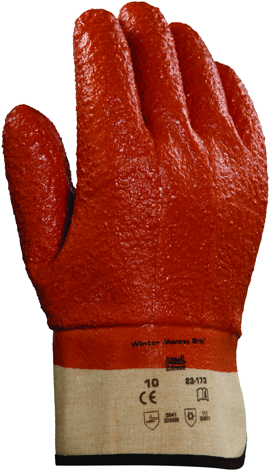 23-173 - Winter Monkey Grip® Gloves-Winter Monkey Grip®, Knitwrist Cuff Style-Size 10----UOM: 12/PK