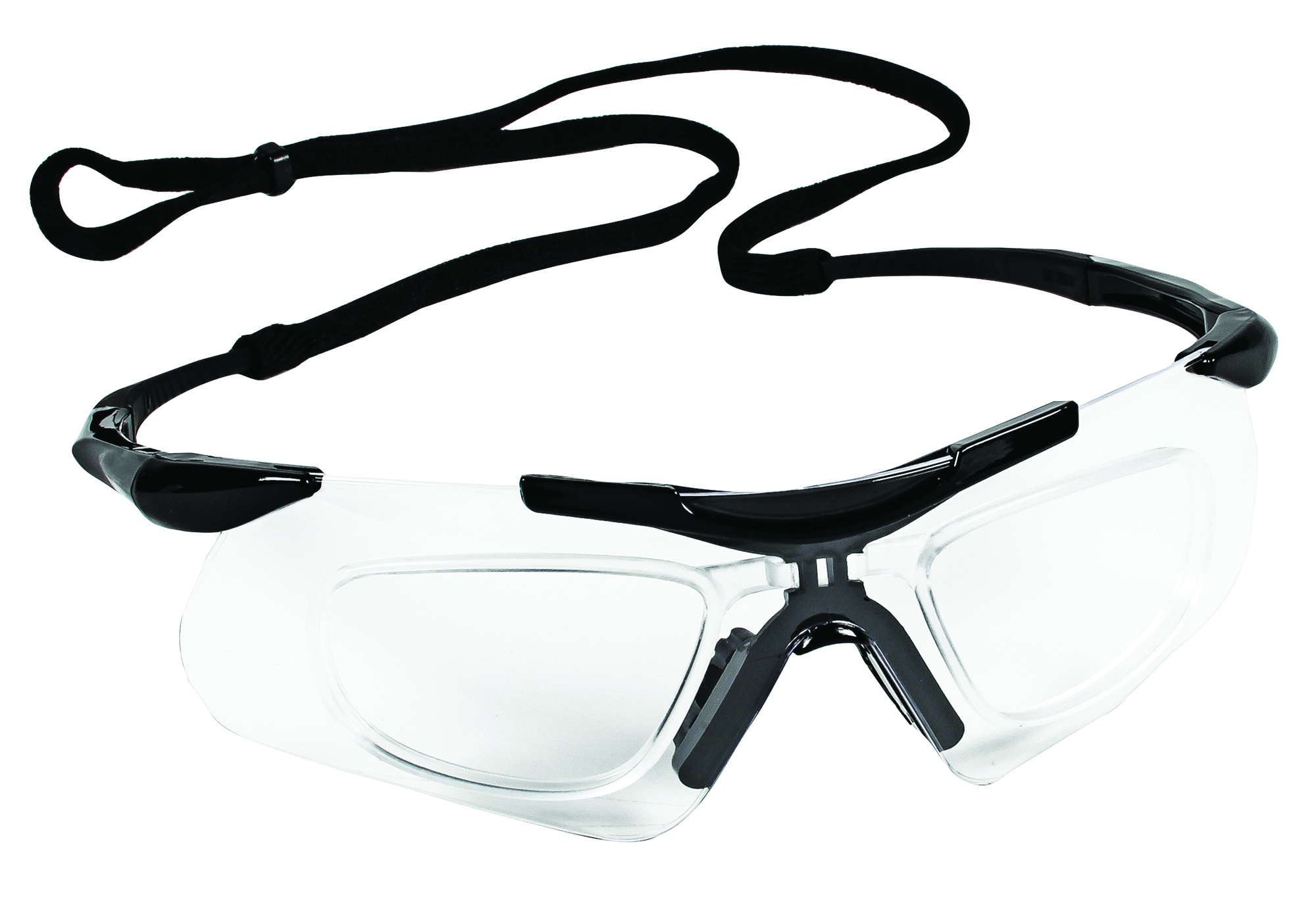 38503 - KleenGuard™ Nemesis* with RX Inserts Safety Glasses-KleenGuard™ Nemesis* with RX Inserts Safety Glasses, Clear Lens, Black Frame with RX Inserts-----UOM: 1/EA