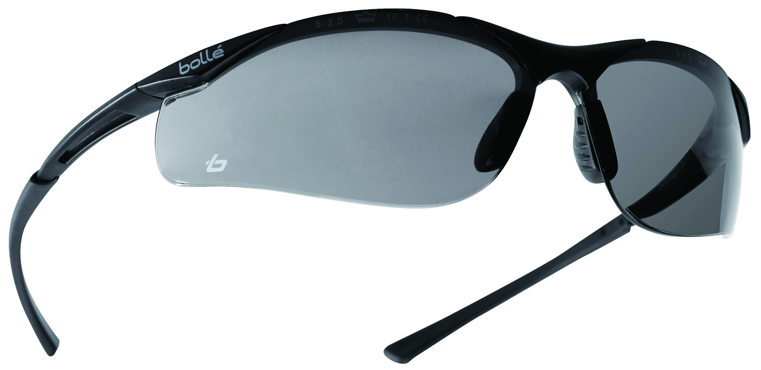 40045 - Contour Safety Glasses-Dark Gunmetal Frame - Anti-Fog/Anti-Scratch Lens Coating-----UOM: 1/EA