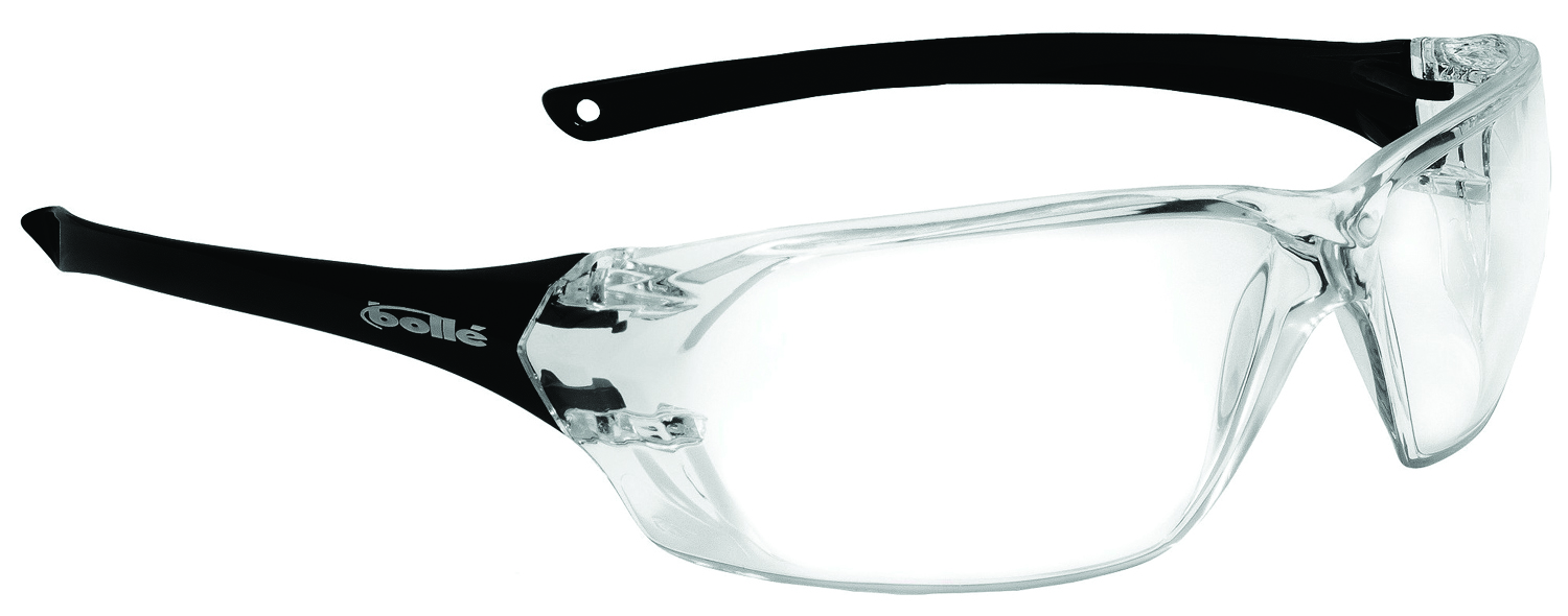 40057 - Prism Safety Glasses-Black Temples - Clear Anti-Fog/Anti-Scratch Lens Coating-----UOM: 1/EA