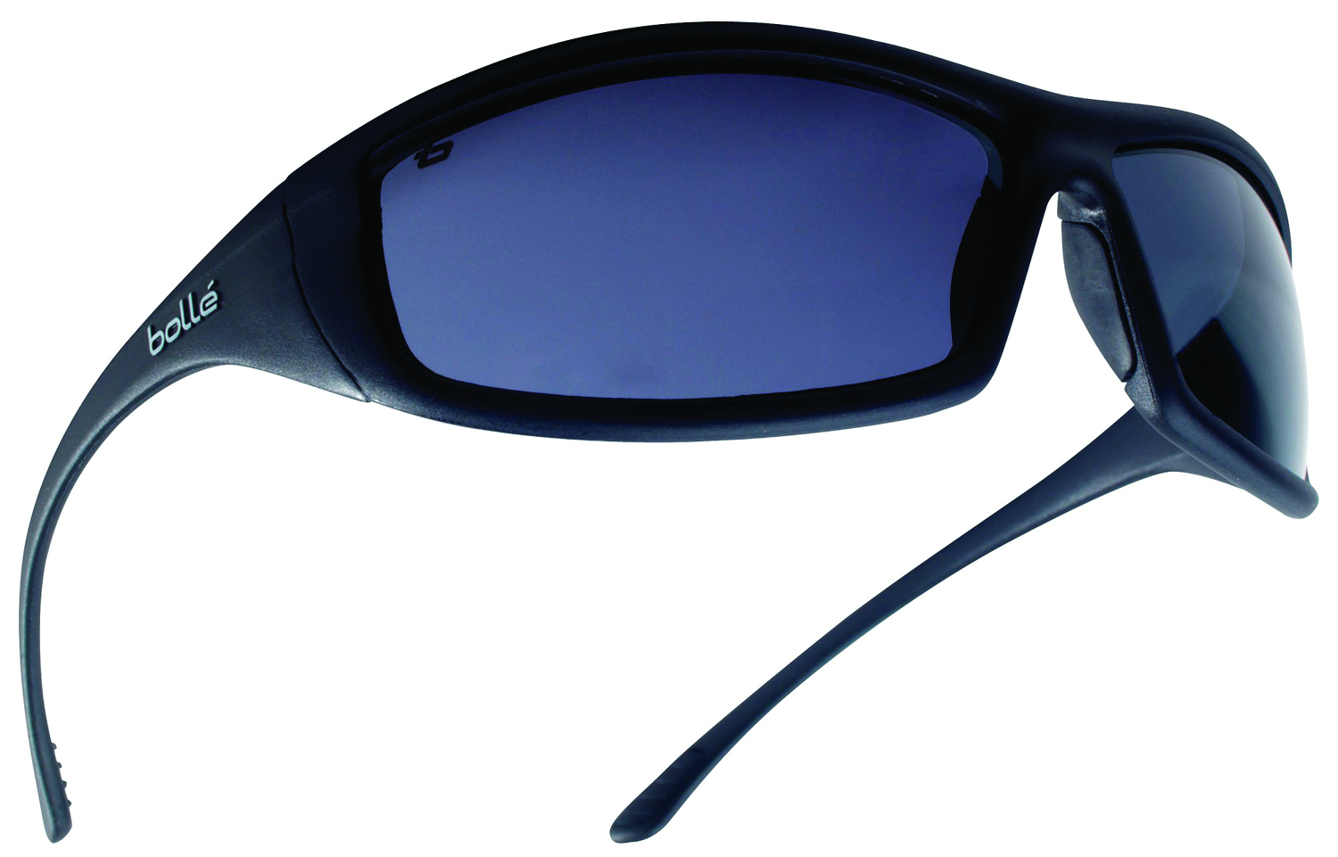 40064 - Solis Safety Glasses-Shiny Black - Blue Flash Mirror Anti-Scratch Lens Coating-----UOM: 1/EA