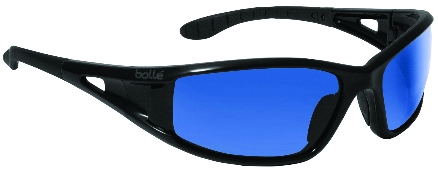 40053 - Lowrider Safety Glasses-Shiny Black - Polarized Smoke Anti-Scratch Lens Coating-----UOM: 1/EA