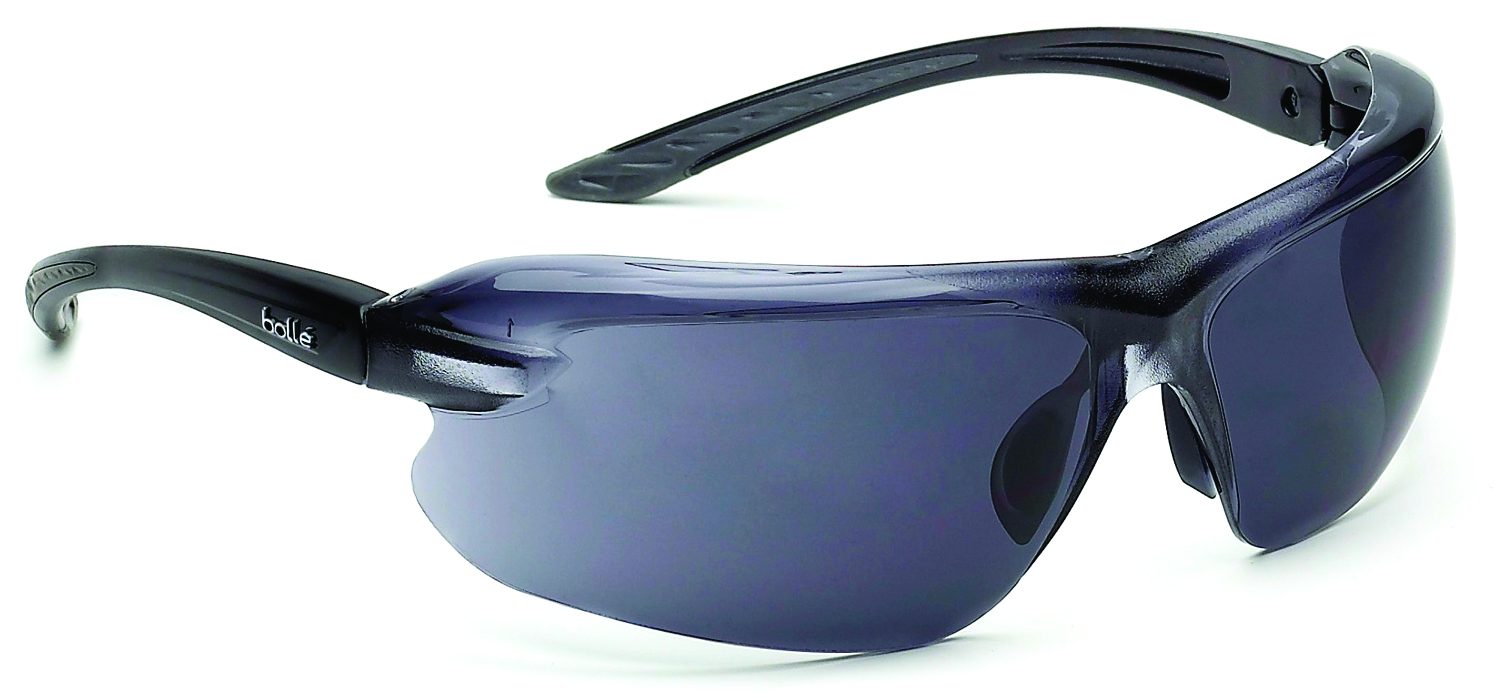 40182 - IRI-S Safety Glasses-Black/Grey Temples - Smoke Anti-Fog/ Anti-Scratch Lens Coating-----UOM: 1/EA