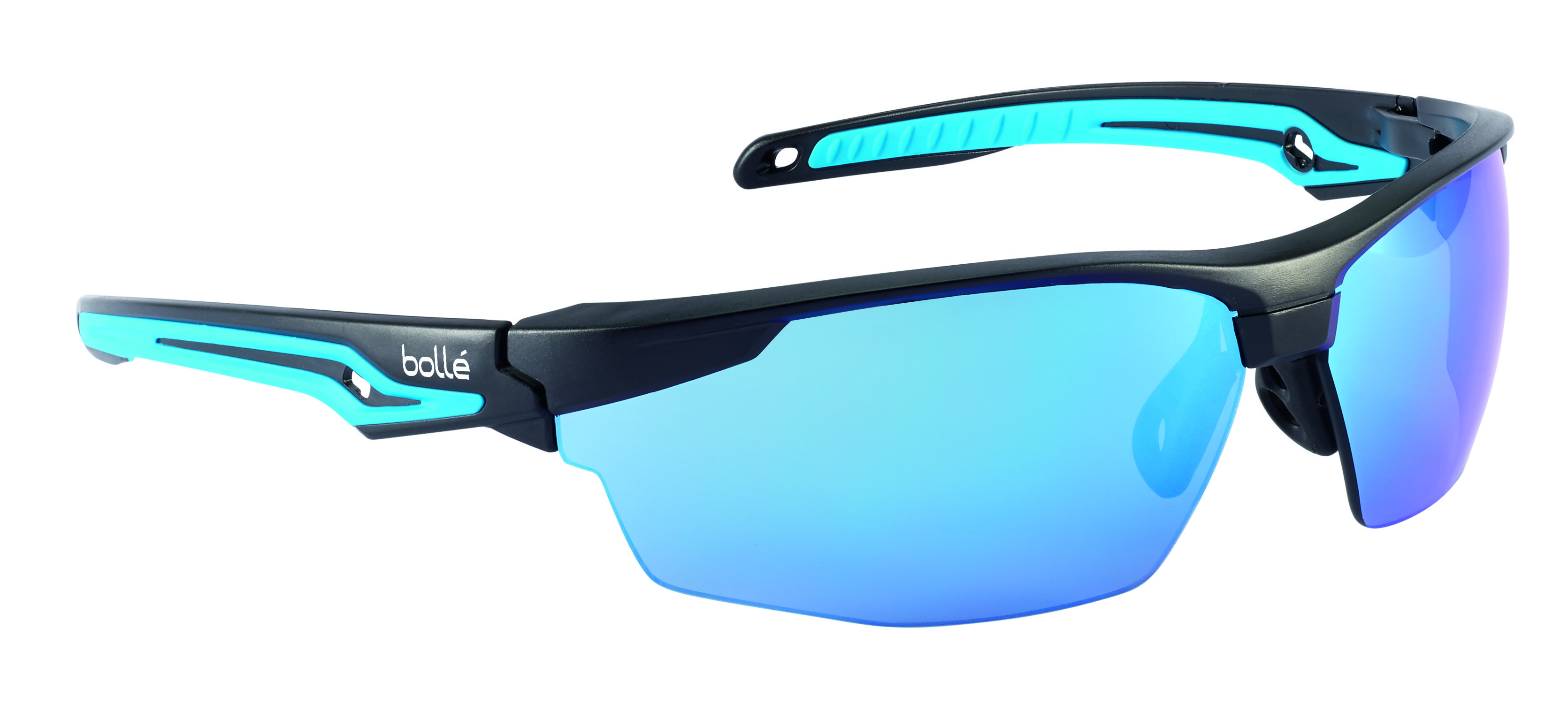 40304 - Tryon Safety Glasses-Black/Blue Frame - Blue Flash Anti-Scratch Lens Coating-----UOM: 1/EA