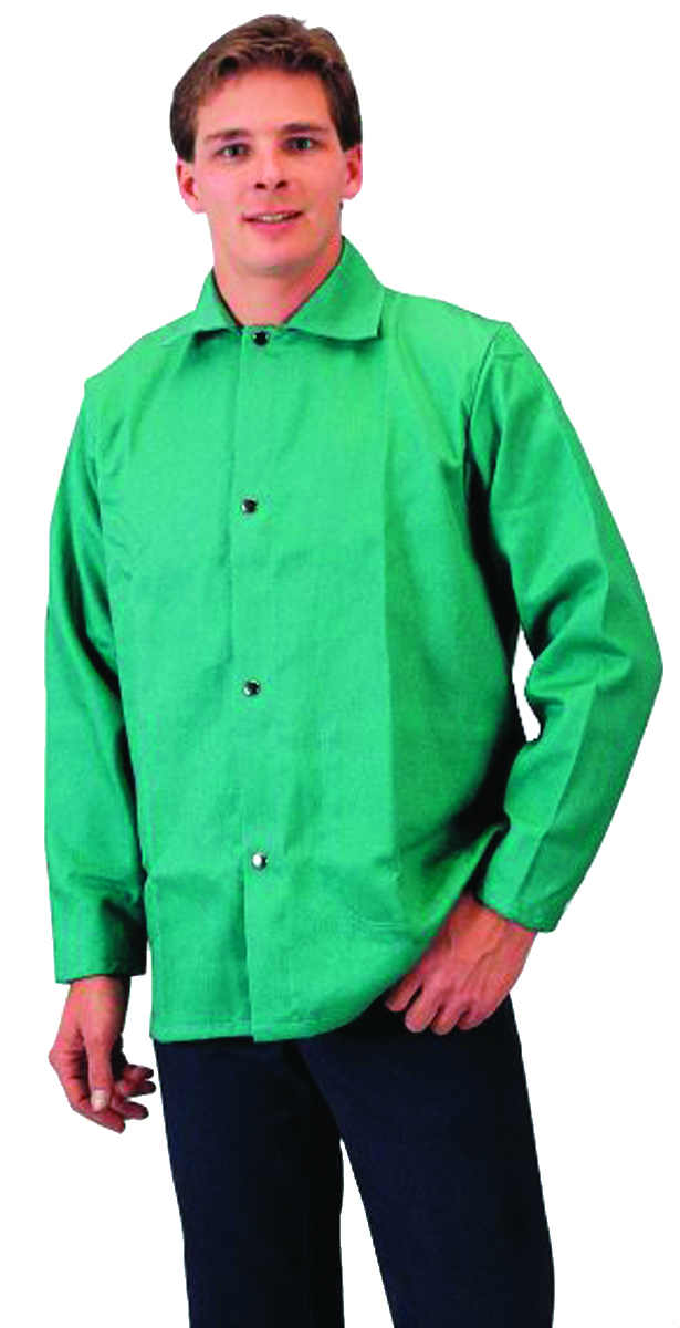 6230M - Flame-Retardant Cotton Jackets-Green Medium-Flame-Retardant Cotton Jackets----UOM: 1/EA