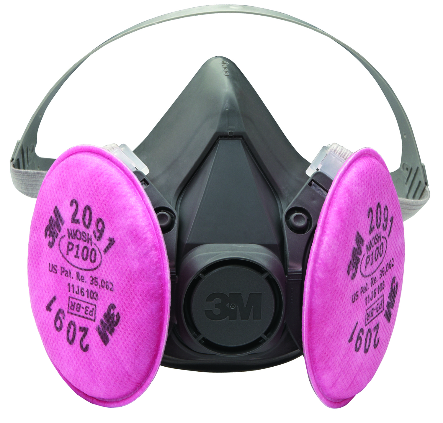 6503 - 3M Rugged Comfort Half Facepiece Respirators 6500 Series-Rugged Comfort Half Facepiece Respirators, 6500 Series-Large----UOM: 1/EA