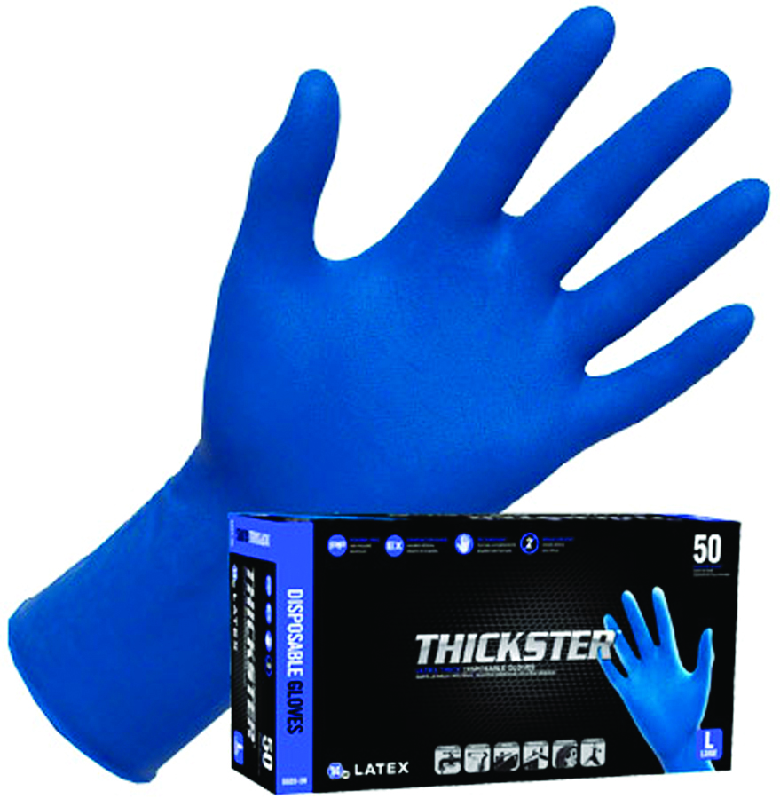 6603 - Thickster™ Latex Gloves-Disposable Gloves-Thickster, Latex Gloves, 14 mil, 12