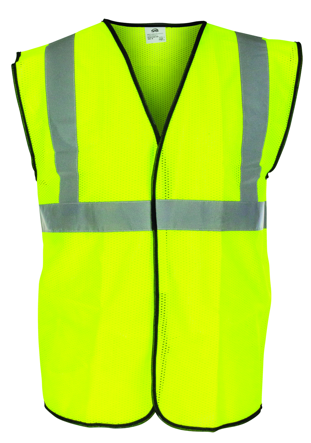690-1210 - ANSI Class 2 Safety Vest-Class 2 Safety Vest-Yellow, Xlarge----UOM: 1/EA