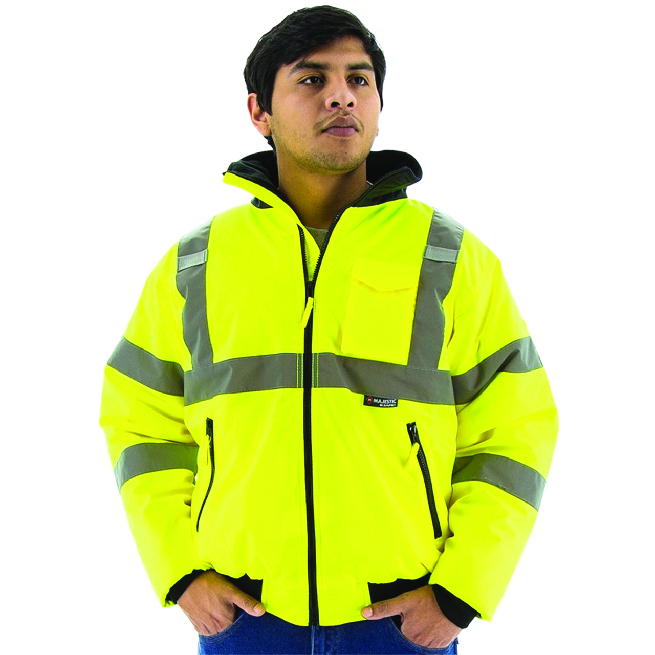 75-1300/M - High Vis Waterproof Jacket w/ quilted liner -High Visibility Waterproof Jacket with Quilted Liner-Yellow, Medium----UOM: 1/EA