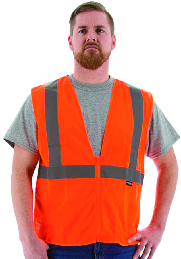 75-3201/S - HI-Viz Safety Vest, ANSI 2, Type R-Class 2 Mesh Vest-Yellow, Small----UOM: 1/EA