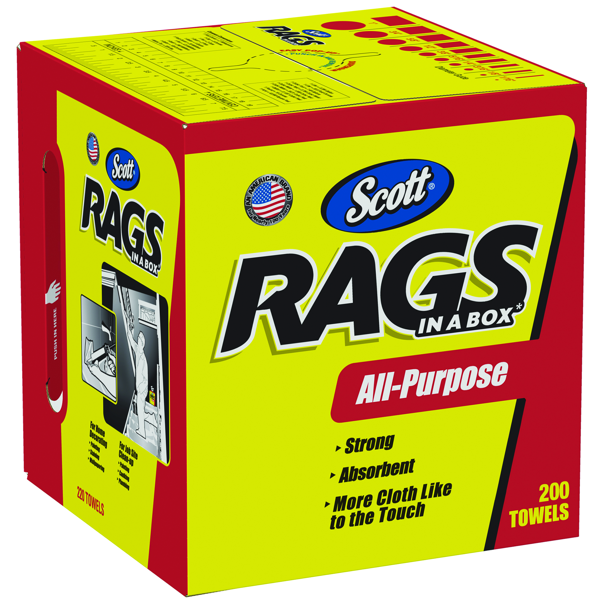 75260 - Scott® Rags In A Box-White, 10