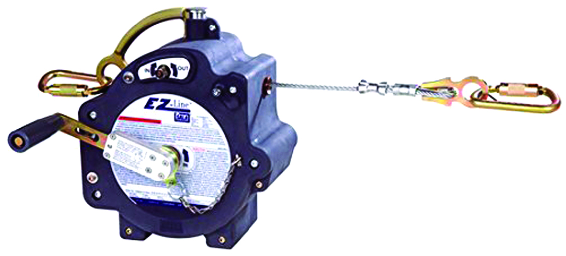 7605060 - EZ-Line™ Retractable Horizontal Lifeline System-Retractable Horizontal Lifeline System-60 ft. (18.3 m) retractable system can be set at any length----UOM: 1/EA