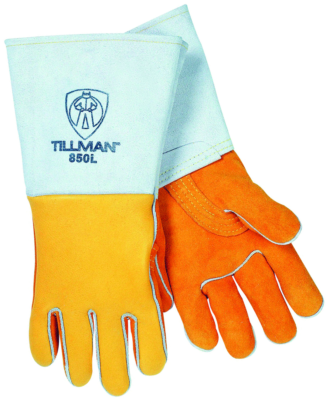 850M - Premium Gold Elkskin Stick Welders Gloves-Medium-Premium Gold Elkskin-Stick Welders Gloves---UOM: 1/PR