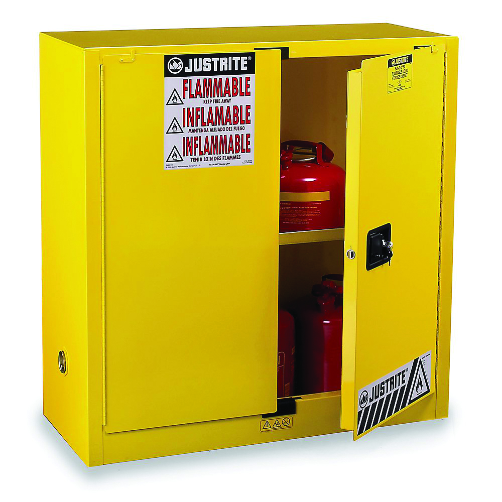 893000 - Sure-Grip® EX Safety Cabinets for Flammables-2 Doors, 1 Shelf, Manual Closing Door-30 Gal Cabinets (44