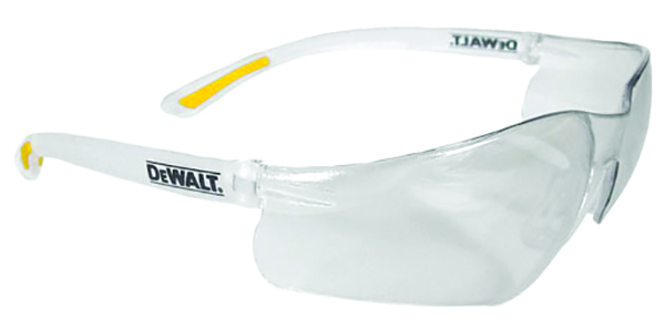 DPG52-1D - DeWALT® DPG52 ContraWctor Pro™ Safety Glasses-Clear Lens, Clear Frame-----UOM: 1/EA