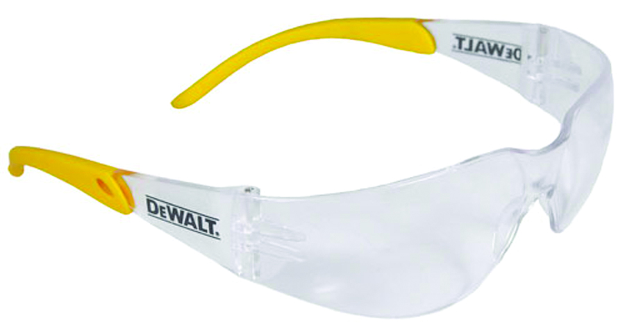 DPG54-1D - DeWALT® DPG54 Protector™ Safety Glasses-Clear Lens, Yellow Temple-----UOM: 1/EA