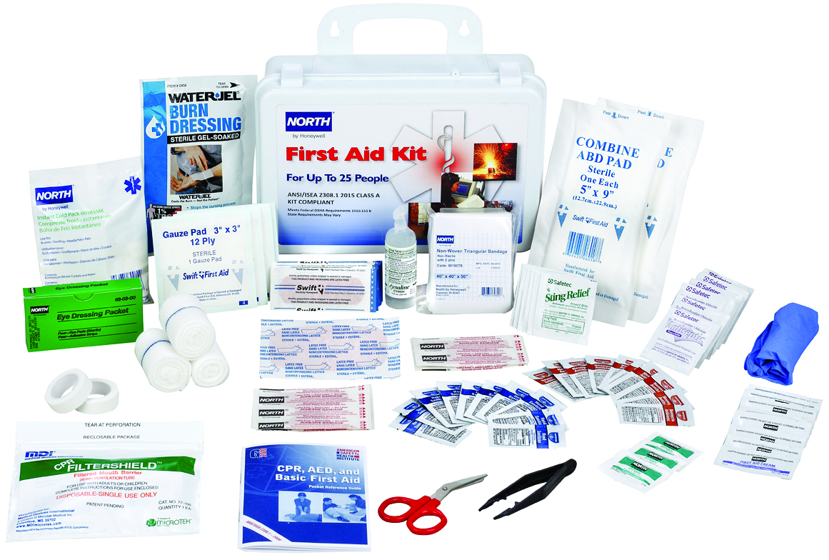 FAK25STL-CLSA - Bulk First Aid Kits-Bulk First Aid Kits-25-Person, Steel, ANSI 2015. Class A----UOM: 1/EA