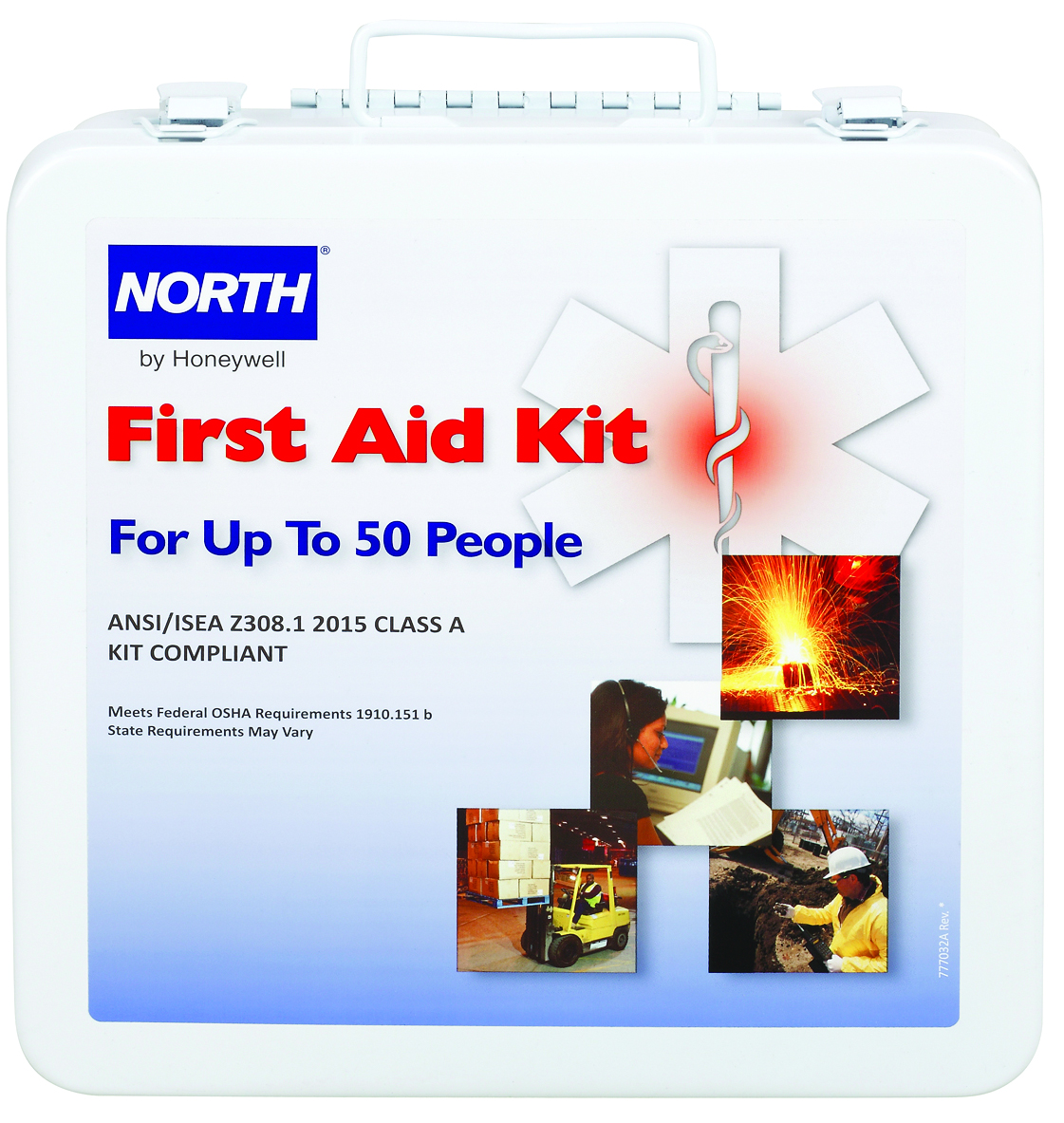 FAK50STL-CLSA - Bulk First Aid Kits-Bulk First Aid Kits-50-Person, Steel, ANSI 2015. Class A----UOM: 1/EA