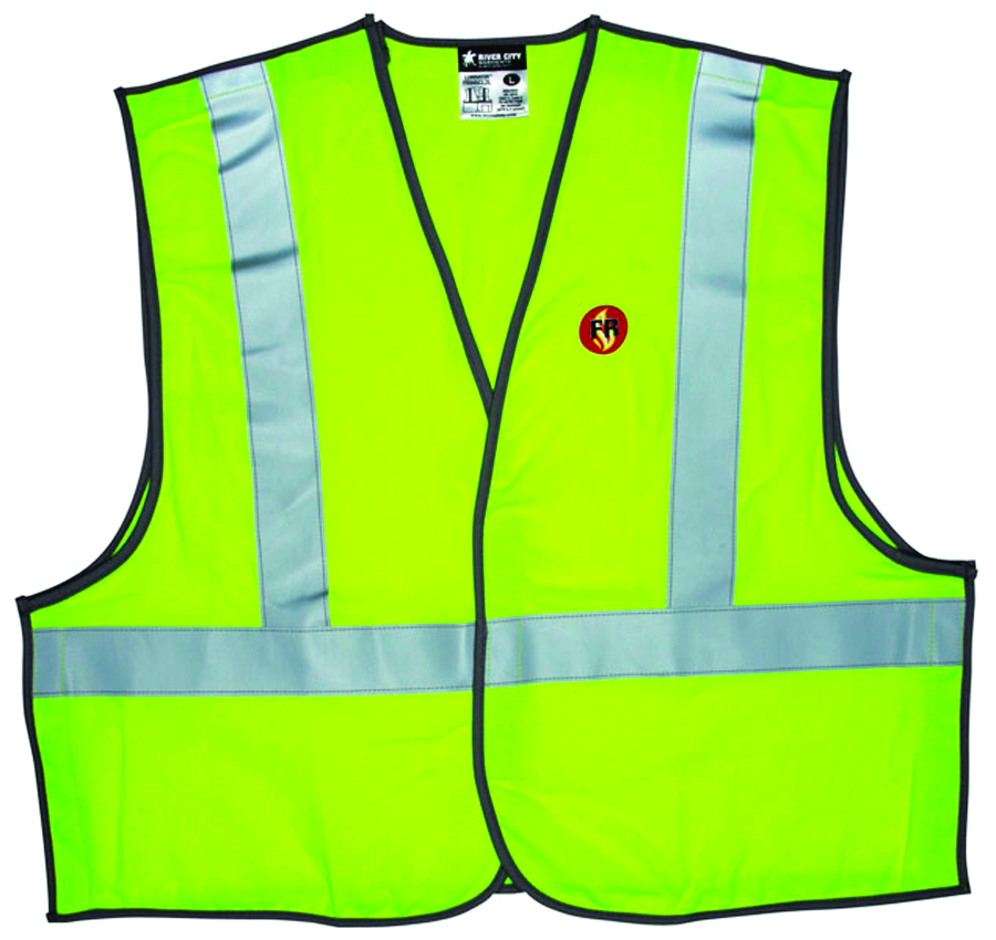 FRMBCL2LX3 - FR Class 2 Break Away Vest-Class 2 Flame-Resistant Break Away Vest-Lime, 3XLarge----UOM: 1/EA