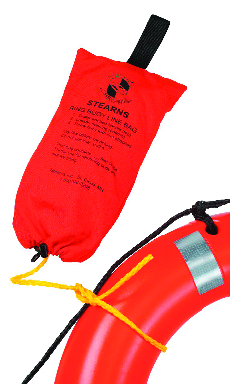I023ORG-00-000  - Ring Buoy and Buoy Bag-90 ft. of 3/8