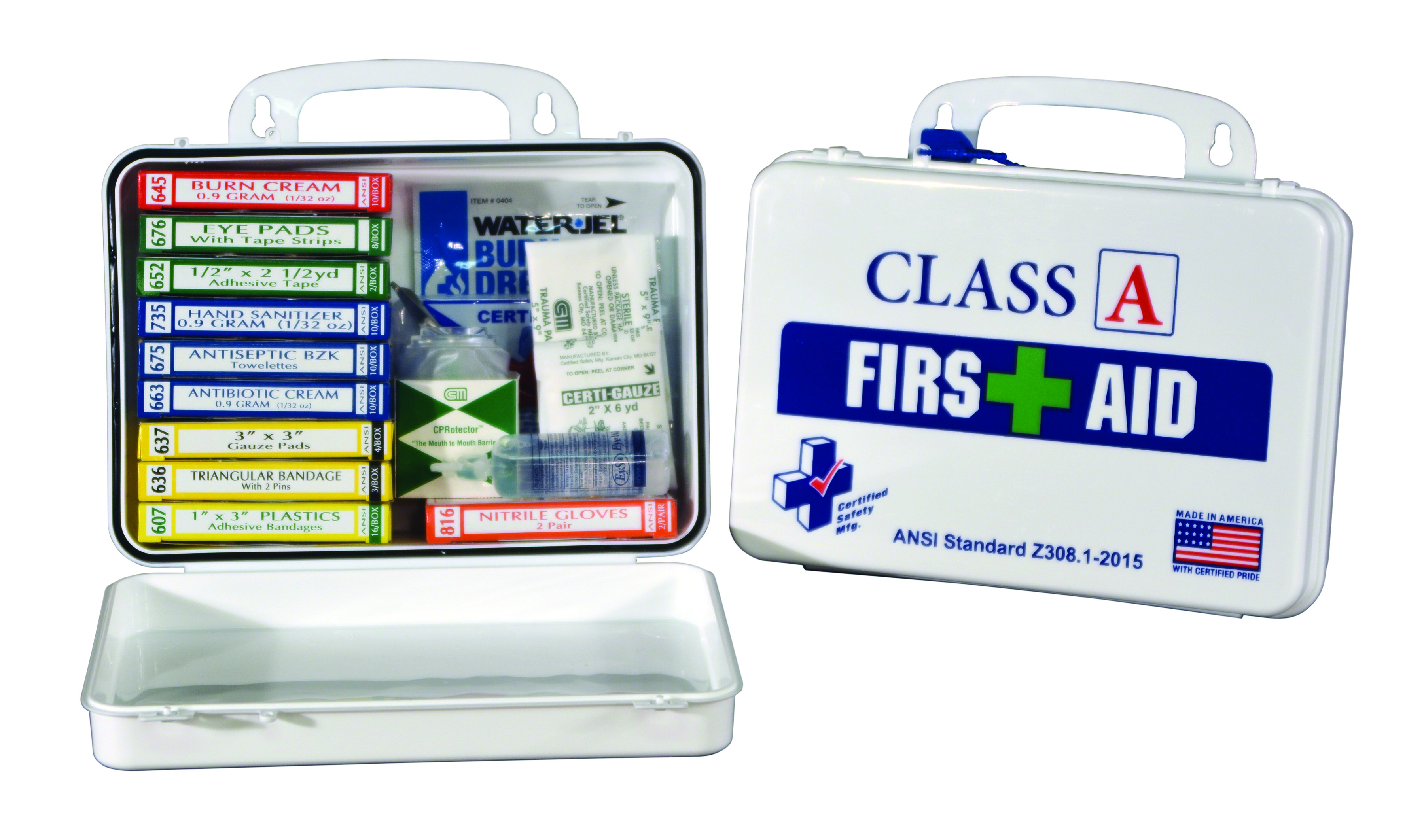 K615-011                       - Class A First Aid Kits - Poly White-Class A First Aid Kit-Designed for common workplace injuries----UOM: 1/EA