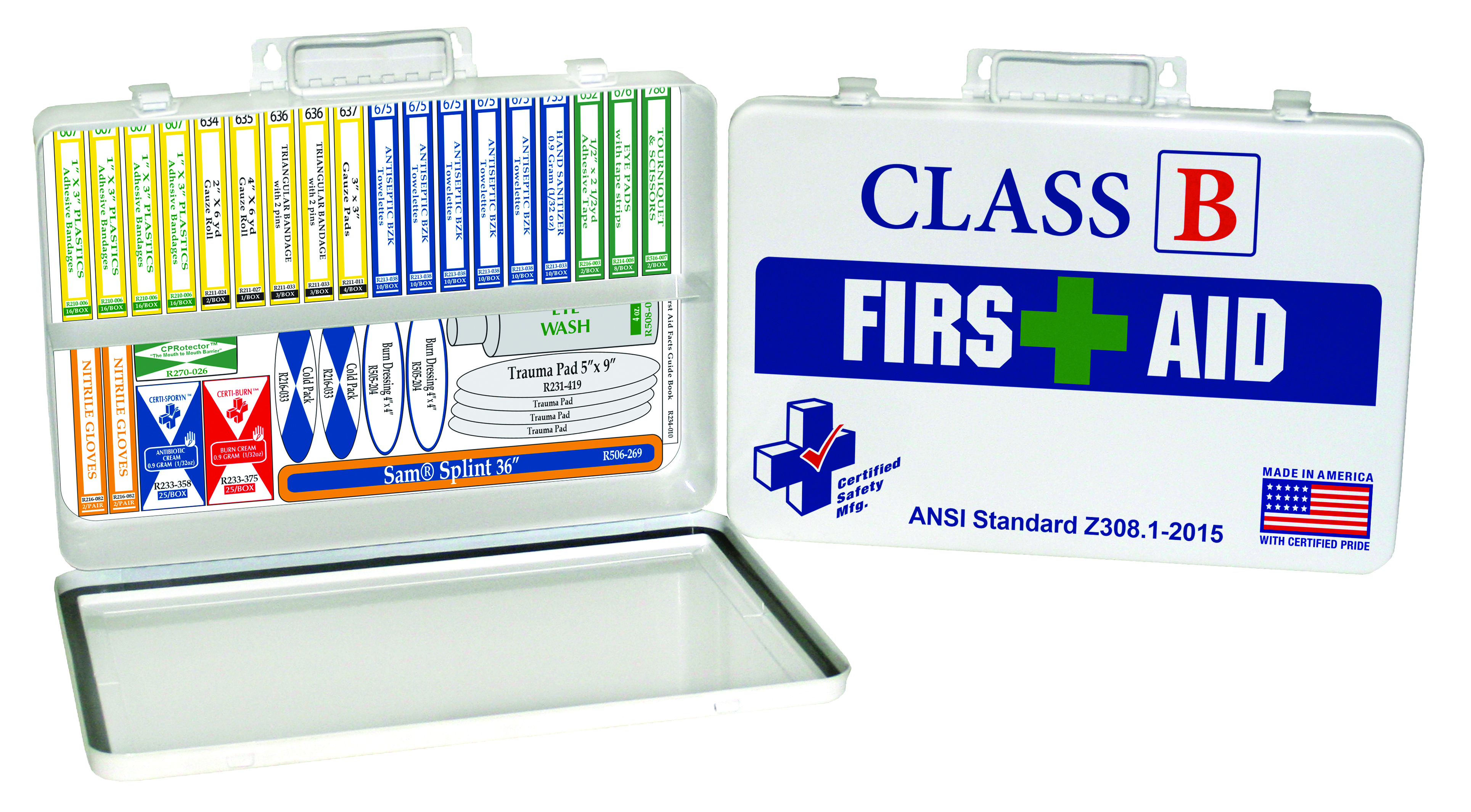 K615-019                       - Class B First Aid Kits - Metal White-Class B First Aid Kit-Designed for High Risk work zones----UOM: 1/EA