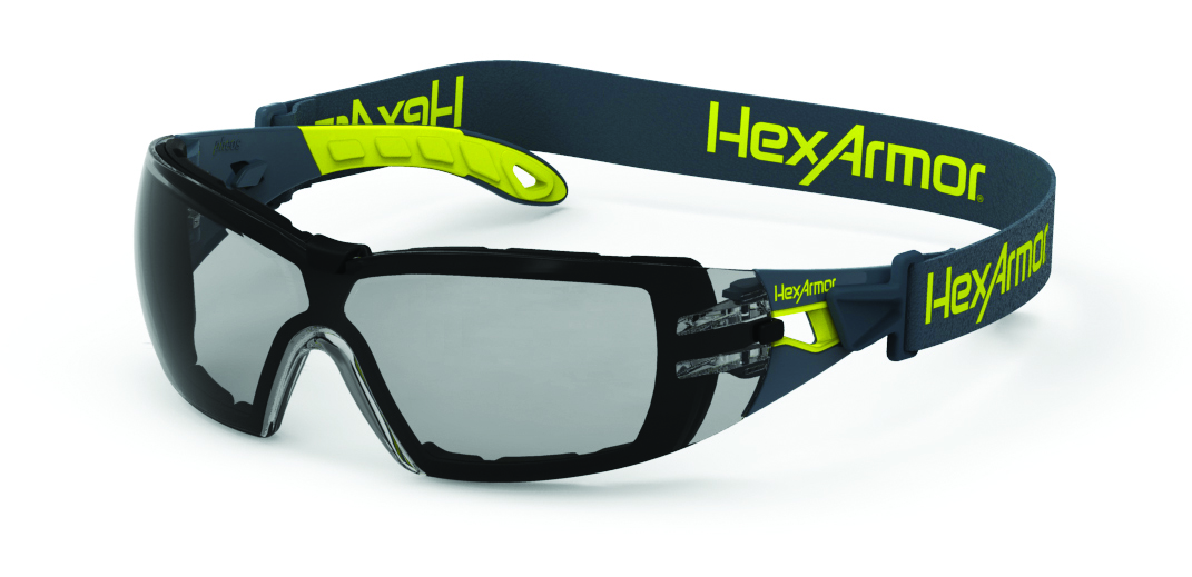 11-12001-04 - HexArmor® MX200G Eyewear-Green/Grey Temples, Clear Lens, TruShield® S Coating-----UOM: 1/EA