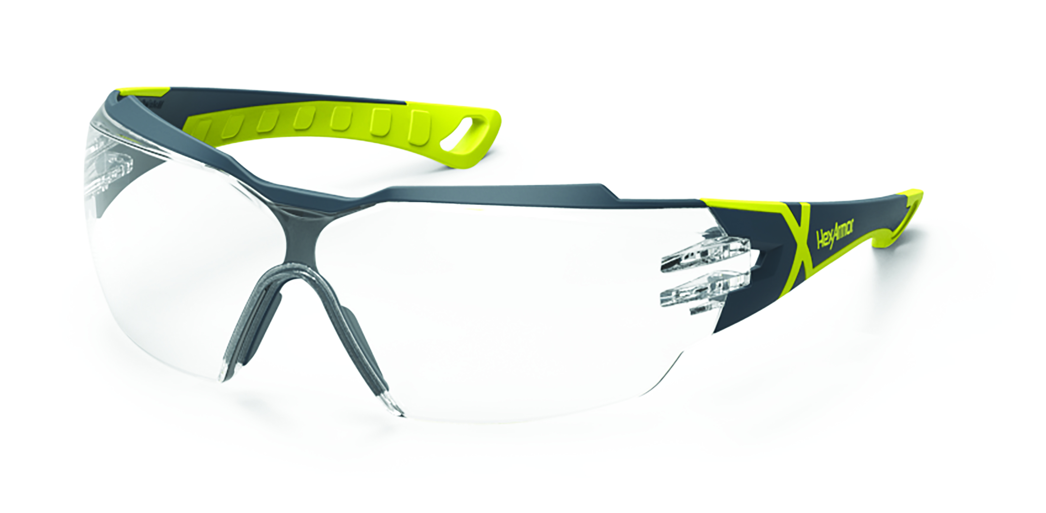 11-13001-02 - HexArmor® MX300 Eyewear-Green/Grey Frame, Clear Lens, TruShield® Coating-----UOM: 1/EA
