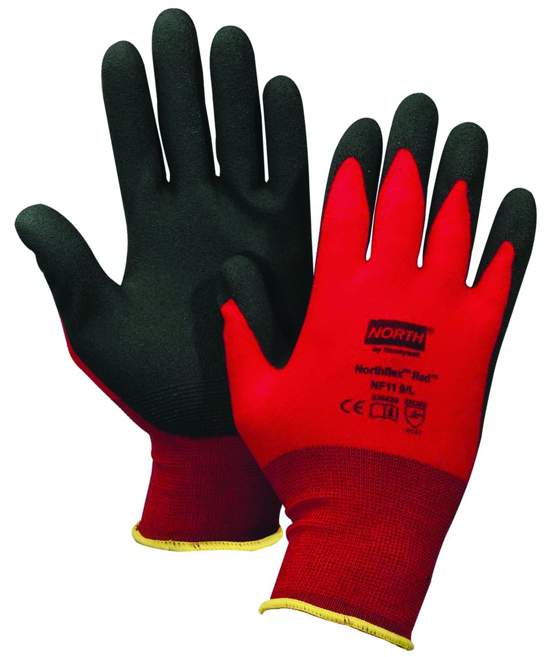 NF11/L - NorthFlex Red NF11 Gloves-General Purpose Gloves-NorthFlex Red Lightweight Gloves, 15-gauge nylon glove with foam PVC coating -Large---UOM: 12/PK