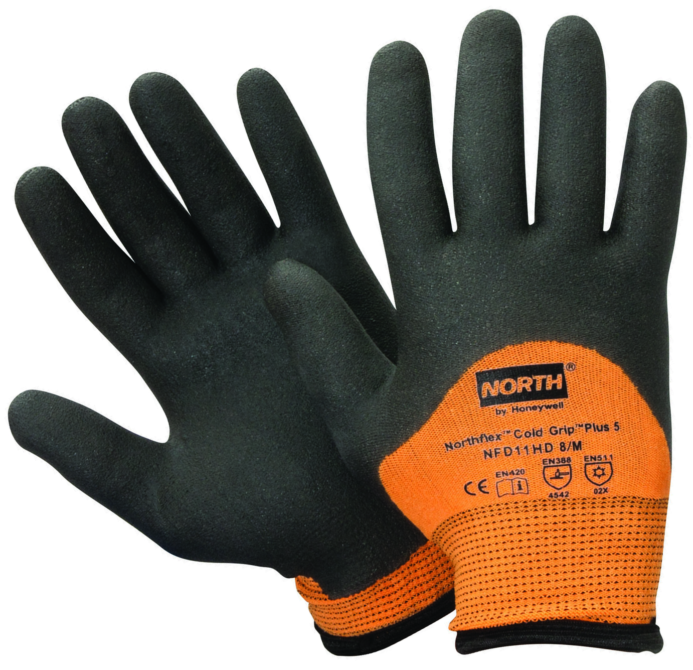 NFD11HD/9L - NorthFlex® Cold Grip Plus™ 5 Thermal Protection Gloves-NorthFlex® Cold Grip Plus 5 Thermal Protection Gloves-Orange & Black----UOM: 12/PK