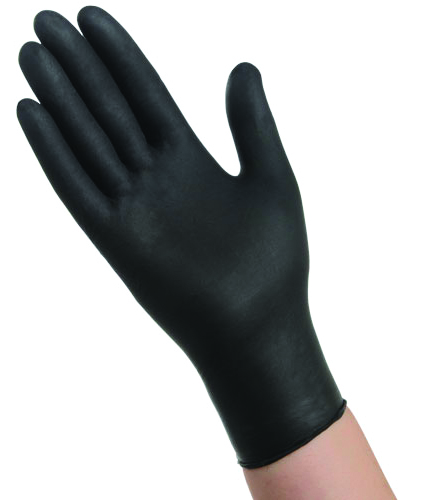 NSM200BLK - AMBITEX® 4 Mil Black Nitrile Powder-Free Glove-Disposable Gloves-4 Mil, Black Nitrile, Powder-Free Glove-Small---UOM: 100/BX