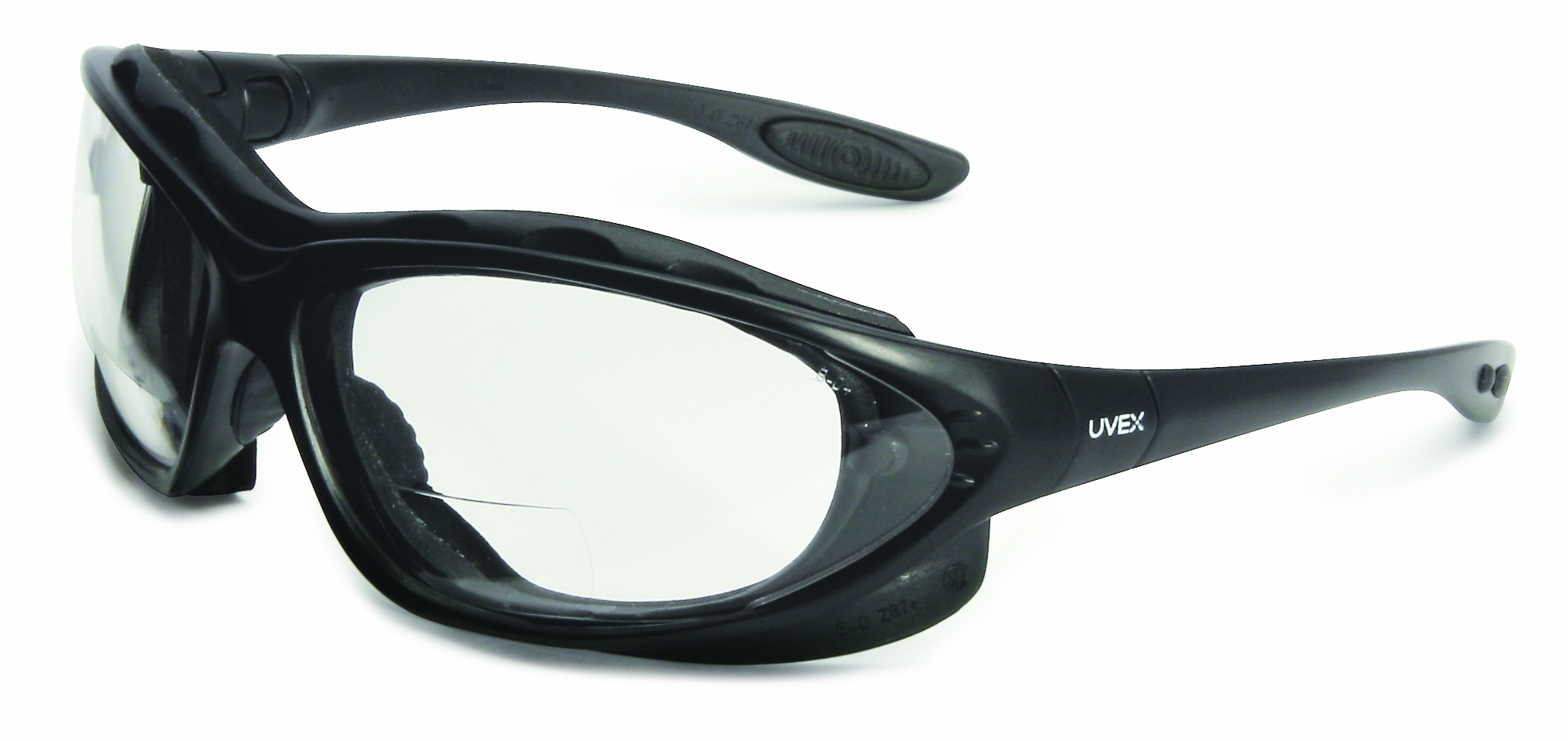 S0661X - Uvex Seismic® Sealed Eyewear with Reading Magnifiers-Uvex Seismic® Sealed Eyewear with Reading Magnifiers, Clear +1.5 Diopter Lens, Black Frame-----UOM: 1/EA