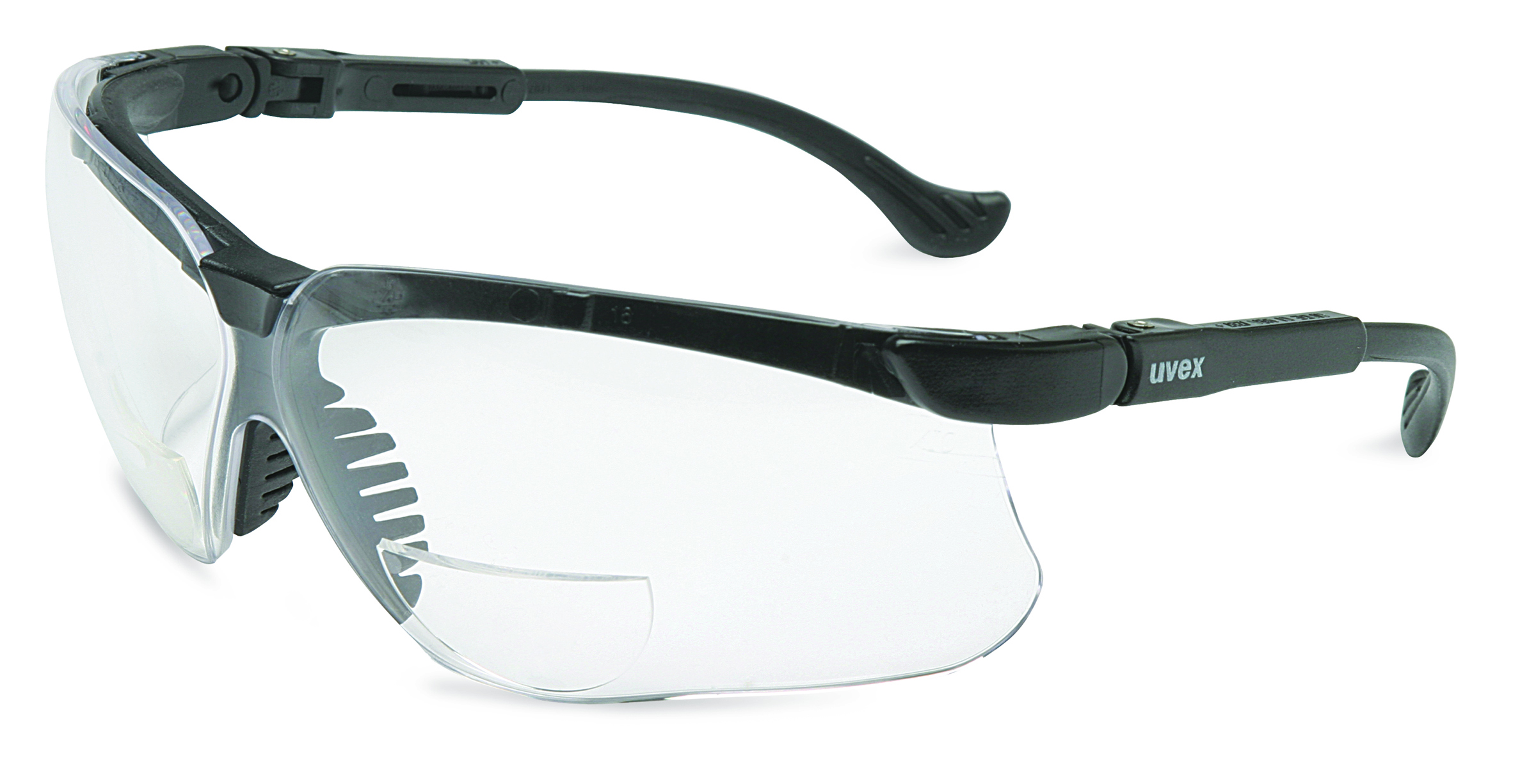S3764 - Uvex Genesis® Readers-Uvex Genesis® Readers Eyewear, Clear +3.0 Diopter Lens, Black Frame-----UOM: 1/EA