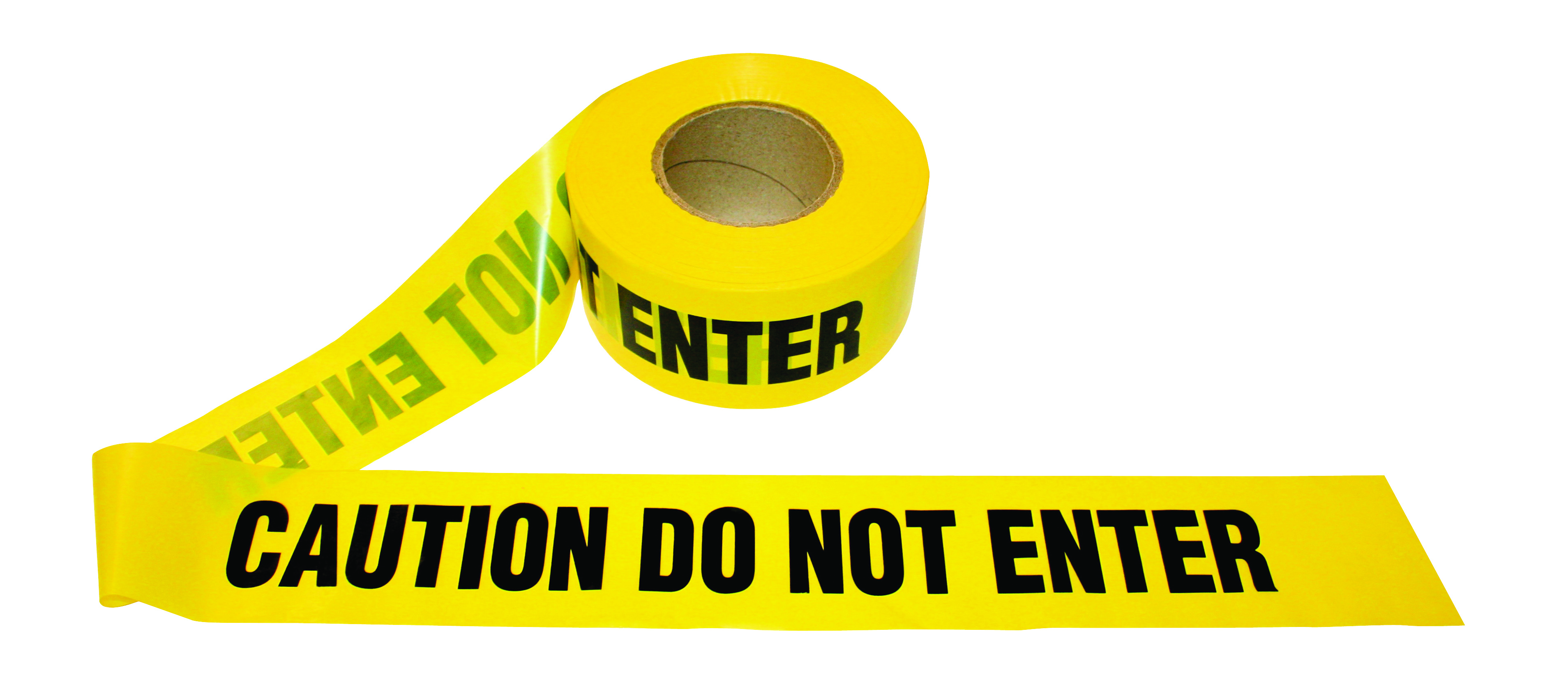 T15102 - Barricade Tape CAUTION-1.5 Mil, CAUTION DO NOT ENTER-----UOM: 1/EA