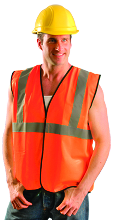 ECO-G-O2/3X - Class 2 Solid Vests-Class 2 Value Solid Standard Vest-Orange, 2XLarge-3Xlarge----UOM: 1/EA